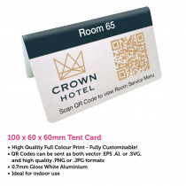 QR Code Full Colour Table Top Tent Number 100 x 60 x 60mm