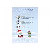 Christmas Thank you poster Hands-Face-Space