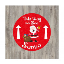 This way to see Santa Floor Graphic