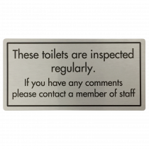 Toilets Are Inspected Regularly Sign