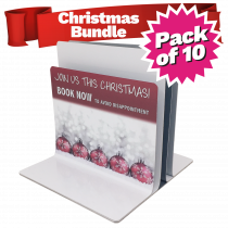 Triple Channel Festive Menu Holders Bundle