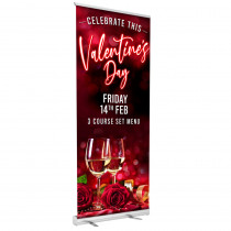 Valentine 3 Course Meal Roller Banner