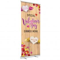 Valentines Book Now Roller Banner