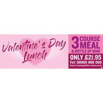 Personalised Valentines Day Lunch Menu PVC Banners