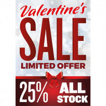 Personalised Valentines Day Sale Poster