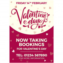 Valentines Taking Bookings Poster