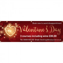 Valentines Day Book Now PVC Banner