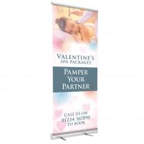 Valentines Spa Roller Banner