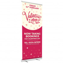 Valentines Taking Bookings Roller Banner