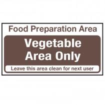 Food Preparation Area Vegetables Only