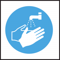 Wash Hands Safety Symbol sticker