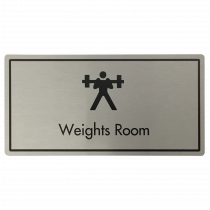 Weights Room Door Sign