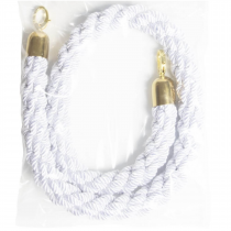 White Rope Barrier with Gold Ends