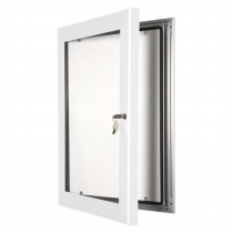 White Lockable Poster Display Cases / Menu Display Cases