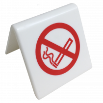White Table Top No Smoking Signs