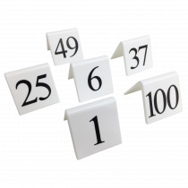 Replacement White Table Top Numbers