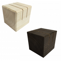 Wooden Block Menu Holders