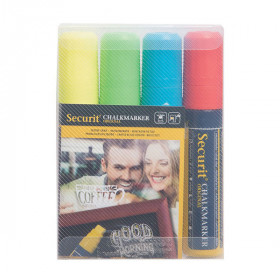 Liquid Chalk Pens - Pack of 4 Bright Colours – Size Large 7-15 mm Nib