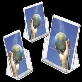 Acrylic Freestanding Leaflet / Brochure Dispensers