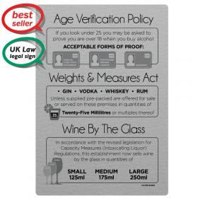 Glass measures Bar Sign Legal Wine Measures Sign Pub Bar Restaurant Wine Sign