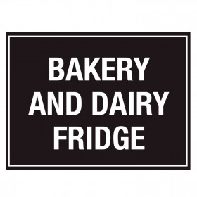 Bakery and Dairy Fridge Storage Sticker