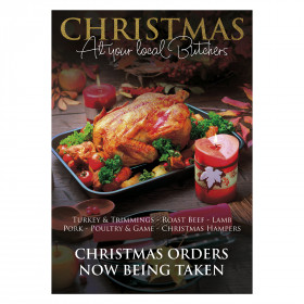 Christmas Fayre Orders Now Being Taken Butcher Poster
