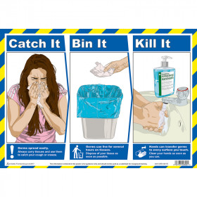 Catch It, Bin It, Kill It, A3 Poster
