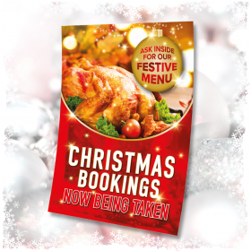 Christmas Poster - Bookings Now Being Taken A1 A2 A3