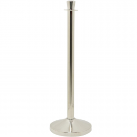 Deluxe Chrome Rope Barrier Post
