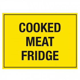 Cooked Meat Fridge Storage Notice - Self Adhesive Vinyl