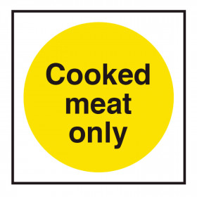 Food Storage Label - Cooked Meat Only