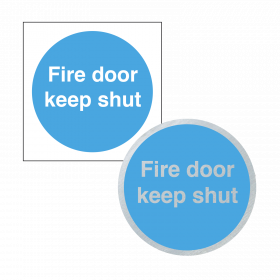 Fire Door Keep Shut - Sign & Disc