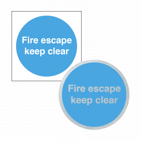 Fire Door Keep Clear - Sign & Disc