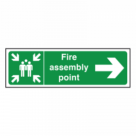 Arrow Right - Fire Assembly Point Sign