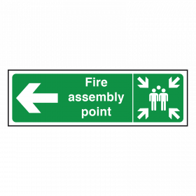 Arrow Left - Fire Assembly Point Sign