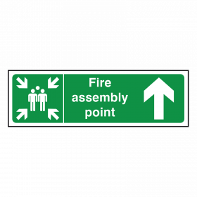 Arrow Up - Fire Assembly Point Sign