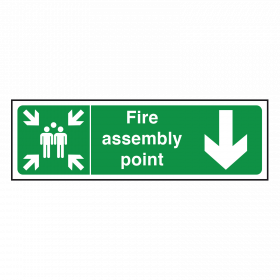 Arrow Down - Fire Assembly Point Sign