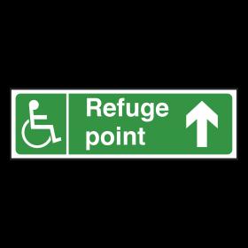 Refuge Point Sign Arrow Up