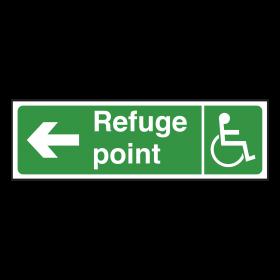 Refuge Point Sign Left