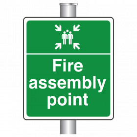 Post Mounted Fire Assembly Point Sign
