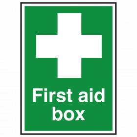 First Aid Box with Symbol Sign