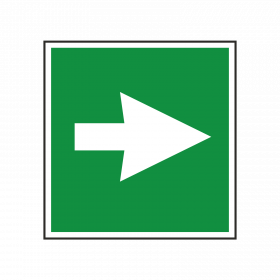 First Aid Arrow Symbol Sign