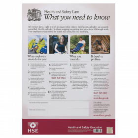 HSE Health and Safety Law Poster UK