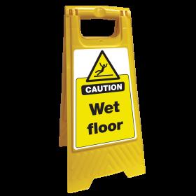 Caution Wet Floor Safety Sign Floor Stand