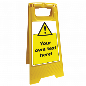 Safety Sign Floor Stand your own text