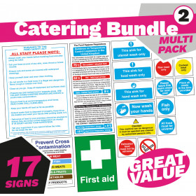 Senior Kitchen & Catering Safety Sign Pack