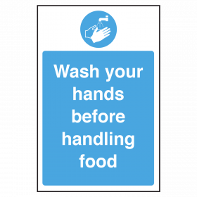 Wash your hands before handling food notice