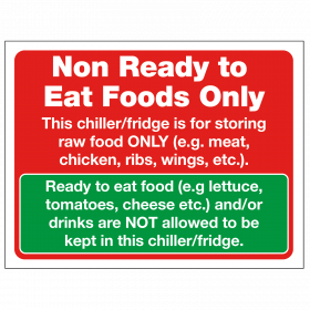 Non-Ready to Eat Foods Only Notice