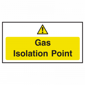 Gas Isolation Point Sign
