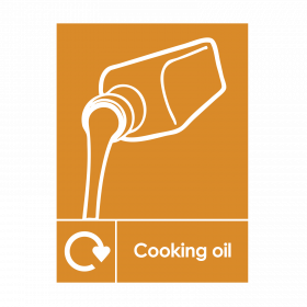 Cooking Oil Recycling Sign